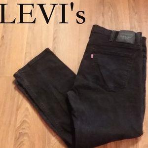 Black Levi's 521 Slim Taper Jeans
